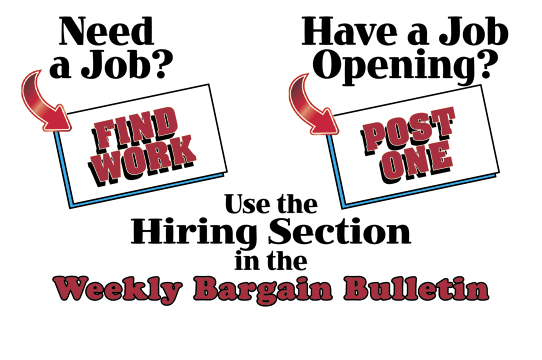 Slide for 2015 Weekly Bargain Bulletin Hiring Section for Lawrence County